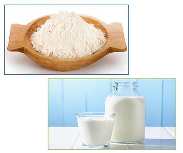 Mặt nạ cám gạo và sữa tươi