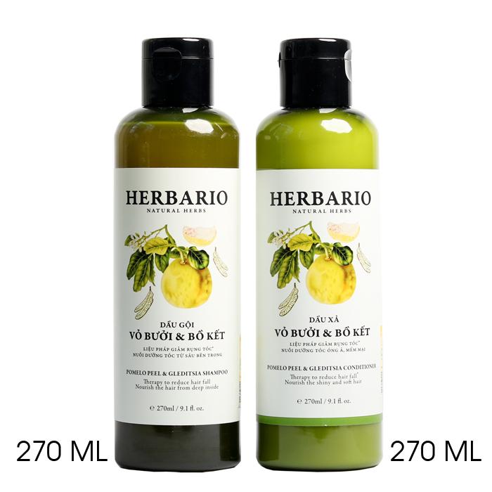 Dầu gội và dầu xả HERBARIO liệu pháp giảm rụng tóc